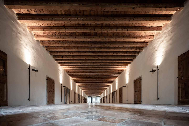 corridoio camere Monastero Arx Vivendi