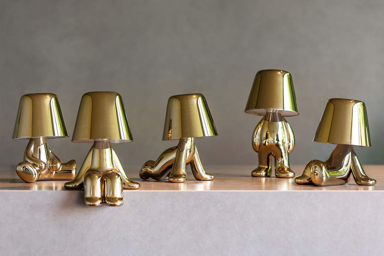 lampada a led oro di design